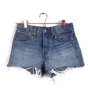 Levi's sz 27 distressed booty shorts